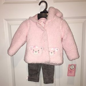 NWT Toddler 3-Piece Outfit w/Hooded Jacket 6/9 mo